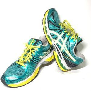 ASICS GEL-Nimbus 15 Women's T3B5N Green Yellow Sz9